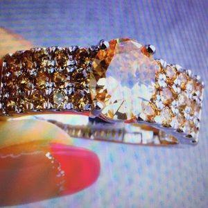 Gorgeous morganite gemstone925(Silver) Size 9